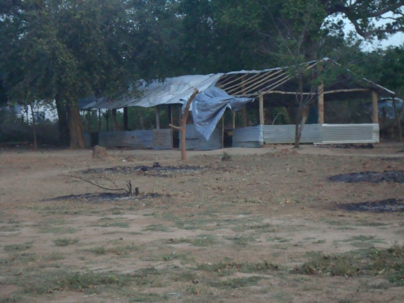 A temporary damaged building at Veenavil Primary School