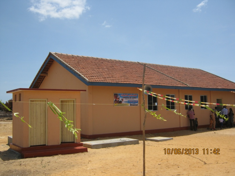 Chandran Pre-School in Mullivaikal East - Opening Ceremony on 10 June 2013