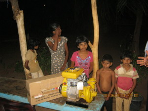 Livelihood assistance to a family in Visvamadu